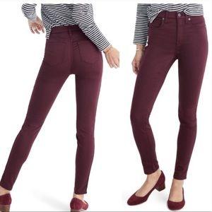 Madewell Skinny Skinny Sateen Garment Dyed Pants